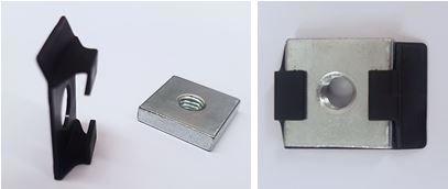 Stopper für Gewindeplättchen 18x18mm aus Kunststoff