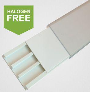 Bezeichnungsstreifenträger aus halogenfreiem Kunststoff